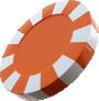 Orange Fun Casino Chip